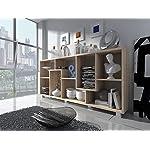 Home Innovation- Scaffale libreria - Divisori design salon-salle pranzo, Rovere Chiaro, dimensioni: 68,5 x 161 x 25 cm di profondità.