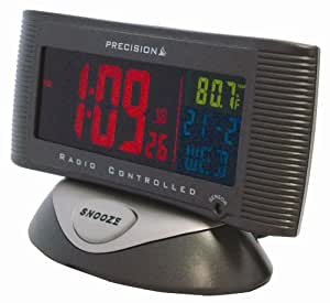 Precision PREC0019 Radio Controlled LCD Screen Alarm Clock with Mains Adaptor, 3 Colours
