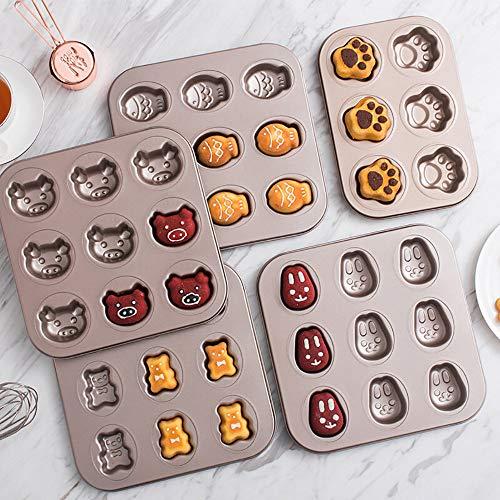 QJJML Kuchen Backform, Tier Backform, Machen Cartoon SüßE Form Kuchen, Haushalt Backblech Ofen ZubehöR (5 StüCk)