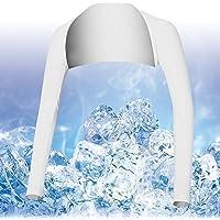 Respirable Verano UV Sun Protector manga de brazo cubre para Golf / Tenis / Ciclismo / Pesca, Tamaño M-Blanco