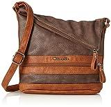 Tamaris Damen Smirne Crossbody Bag Umhängetasche, Braun (Dark Brown Comb.), 30x7,5x22 cm