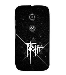 FUSON The Eternal Night 3D Hard Polycarbonate Designer Back Case Cover for Motorola Moto E2 :: Motorola Moto E Dual SIM (2nd Gen) :: Motorola Moto E 2nd Gen 3G XT1506 :: Motorola Moto E 2nd Gen 4G XT1521