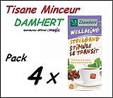 Tisane Minceur Damhert - Lot De 4 Boites - Minceur Laxative 100% Naturel