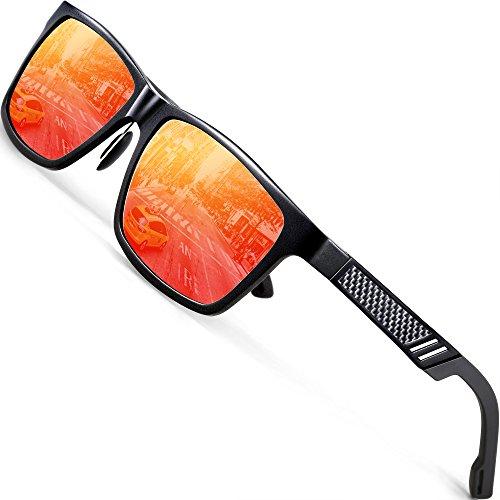 ATTCL Unisex Stil Polarisierte Fahren Sonnenbrille Herren Damen 16560red