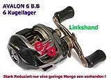 Lineaeffe AVALON-6 B.B Baitcaster Rolle Linkshand Angelrolle Spinnrolle