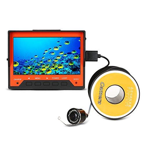 """Lixada Fischfinder 4,3 \""""Unterwasser Eisfischen Kamera mit Handschlaufe 8 Infrarot LED Nachtsicht 140 Grad Weitwinkel 15 M 1000TVL"""