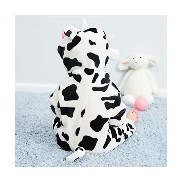 Pijama para Bebé Niña Niño Franela Bolsa Saco de Dormir de Mangas Largas Espesar Mameluco con Capucha Peleles algodón… 4