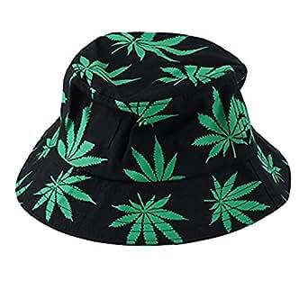 Leisial Men's Maple Leaves Bucket Hats Cotton Hats Unisex ...