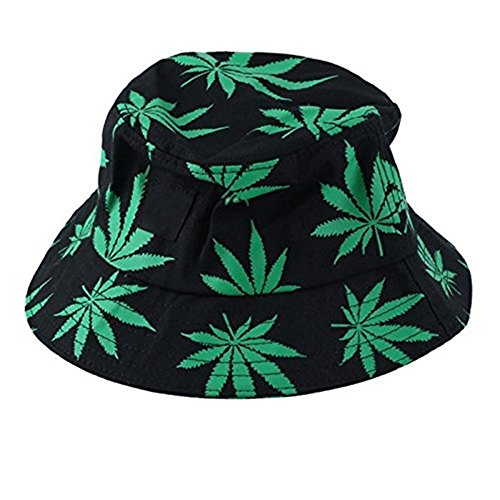 Men's Maple Leaves Cotton Bucket Hat
