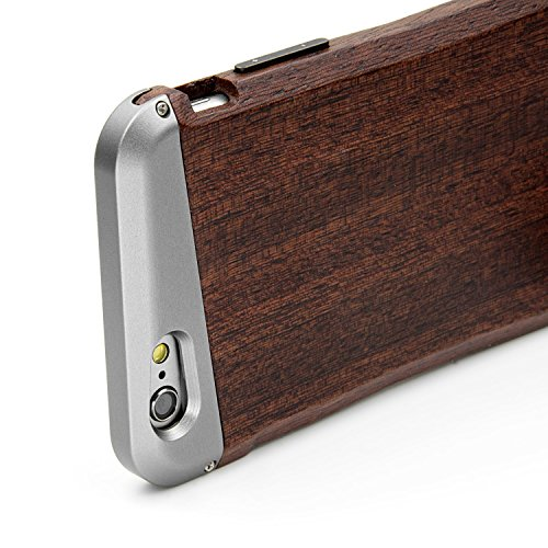 Eimolife LCAW2015E Coque en bois/aluminium pour iPhone 6/6S Scented Rosewood scented rosewood