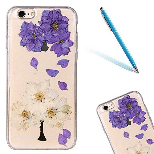 """iPhone 6s Schutzhülle, iPhone 6 Soft TPU Handytasche, CLTPY Modisch Durchsichtige Rückschale im Getrocknete Blumenart, [Stoßdämpfung] & [Kratzfeste] Full Body Case für 4.7"""" Apple iPhone 6/6s + 1 Stylu Floral 29"""