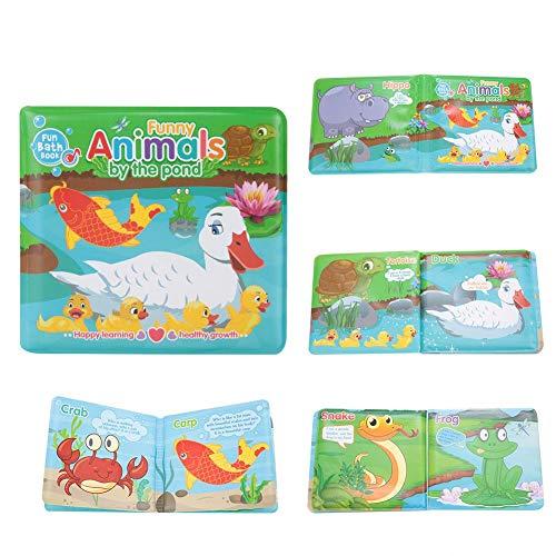 Baby-Badebuch, reißfeste Säuglingsduschen-Früherziehung-Spielwaren für Kinder(Ente & Pool) -