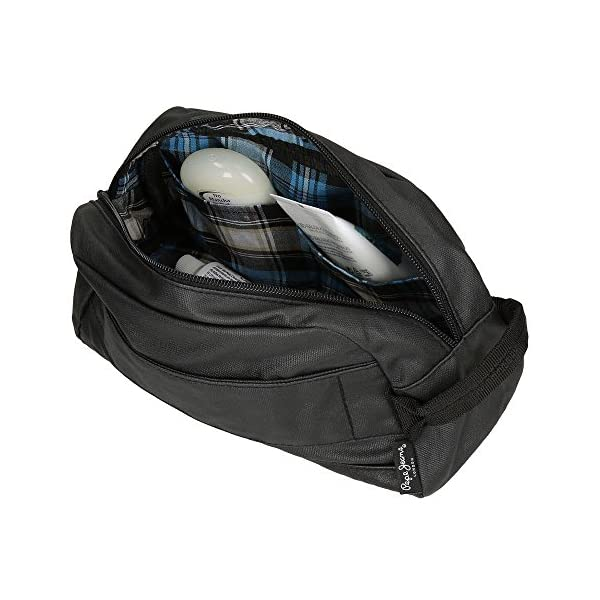 Pepe Jeans Black Label Neceser Adaptable a Trolley, Color Negro