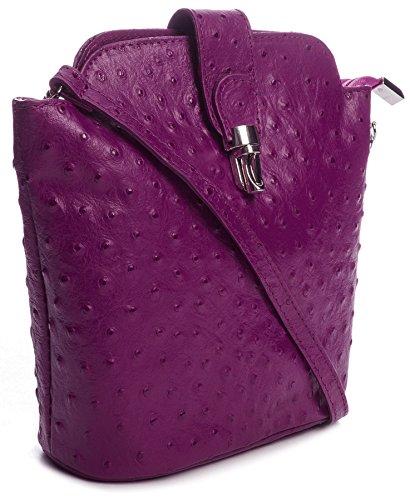 Big Handbag Shop , Borsa Messenger  donna Blu (Blu navy)