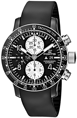 Fortis Men's 665.12.71 K B-42 Stratoliner Chronograph Analog Display Automatic Self Wind Black Watch