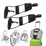 WINWINTOM 2pcs Fügen Sie einen Beutel Bügel Gepäck Koffer justierbarer Gurt hinzu der Bungee Reise trägt