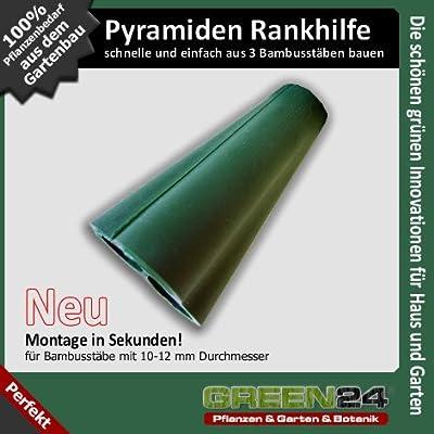 Pyramidenspitze für 3 Bambusstäbe zum Bau eine Rankhilfe oder Kletterhilfe von GREEN24 - Du und dein Garten