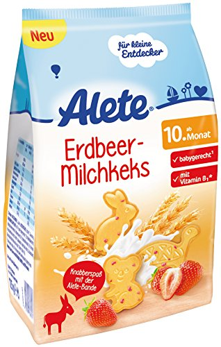 Alete Erdbeer-Milchkeks, 4er Pack (4 x 125 g)