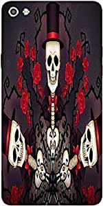 Snoogg Skeletons In Tophats And Roses 2695 Designer Protective Back Case Cover For Micromax Canvas Silver 5 Q450