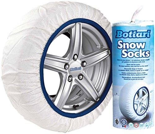 Bottari-68060-Calze-da-Neve-Bianco-S-Set-di-2