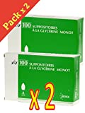 MERCK - Merck Suppositoires à la Glycérine Monot - Lot de 2 x 100