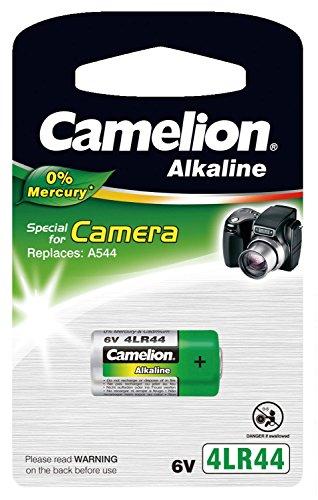 Camelion 12050144 Kamera Spezial Batterie ohne Quecksilber 4LR44/6 Volt, 1er