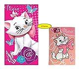 Idea Regalo per Bambini – Disney Aristocats – Maria: Asciugamano/Telo Doccia/Asciugamano da Bagno/Telo Mare 100% Cotone, Handtuch + Badetuch: 2 Er Set, 70 x 140 cm