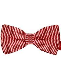 Tangda - Nœud papillon rayé - Cravate en maille - Homme
