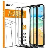 KuGi. Panzerglasfolie Displayschutzfolie Ersatz für iPhone 11 Pro, Displayschutzfolie Passt Ersatz für iPhone 11 Pro 5.8' Smartphone Schwarz(2 Stück)