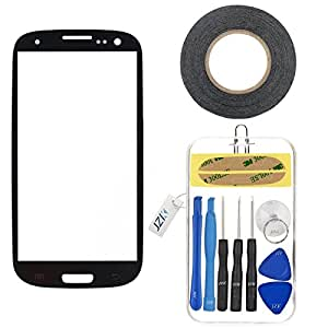 Samsung Galaxy GT i9300 S3 III Front Glass (Pebble Blue) With Tool Set and Adhesive (Touch Screen/Digitizer and LCD Not Included) A FiveSeasonStuff Replacement/Repair Part For Mobile Phone
