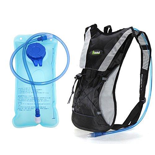 Topfire Mochila de senderismo con mochila de hidratación 2L vejiga Ag