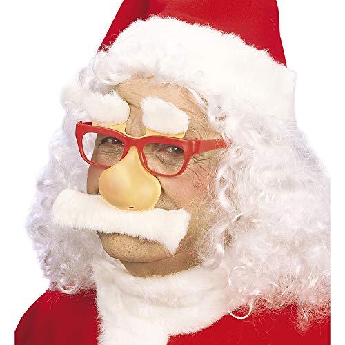 chtsmannbrille mit Nase, Schnurrbart und Augenbrauen, Herren, Rot/Weiß, Taglia Unica ()