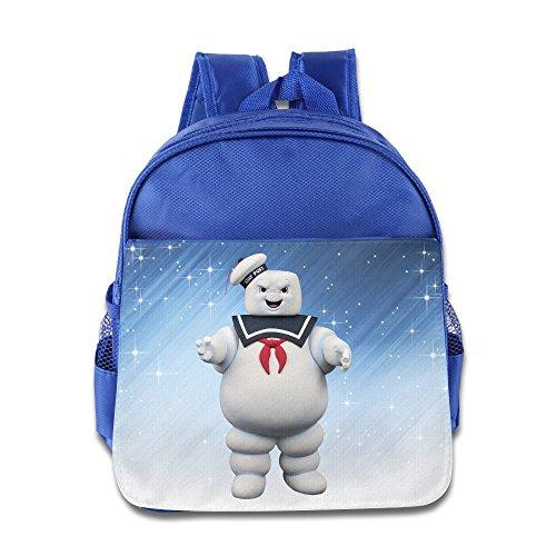 Historia de elfo-Stay Puft Marshmallow Man poco Kid bebé niños niñas escuela mochila azul eléctrico
