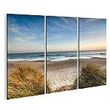 islandburner Bild Bilder auf Leinwand Strand Meer Sand Nordsee Poster, Leinwandbild, Wandbilder