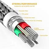 Micro USB Cable Yosou Charger Cable [4 Pack/0.5m+1m+1.5m+2m] Nylon Braided Fast Charging USB Cable Compatible with Samsung, Huawei, Sony, Android Smartphone, PS4 and More