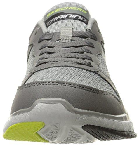 Skechers Burst TR-Halpert, Sneakers Basses Homme Charcoal/Lime
