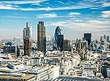 Fototapete Skyline London 350cm Breit x 260cm Hoch Vlies Tapete Wandtapete - Tapete - Moderne Wanddeko - Wandbilder - Fotogeschenke - Wand Dekoration wandmotiv24
