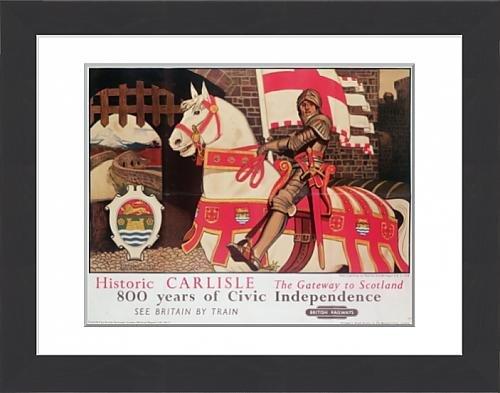51QG4fguhzL UK BEST BUY #1Framed Print of British Rail poster advertising Historic Carlisle, Gateway to Scotlanda 39 price Reviews uk
