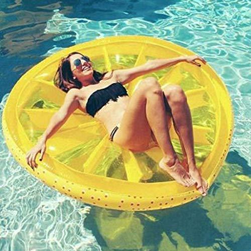 YZ-YUAN Lemon Schwimmende Reihe Pool Float Beach Lemon Schwimmen Spielzeug Obst Scheibe Float Floatie Luftmatratze Schwimmring Aufblasbares Spielzeug