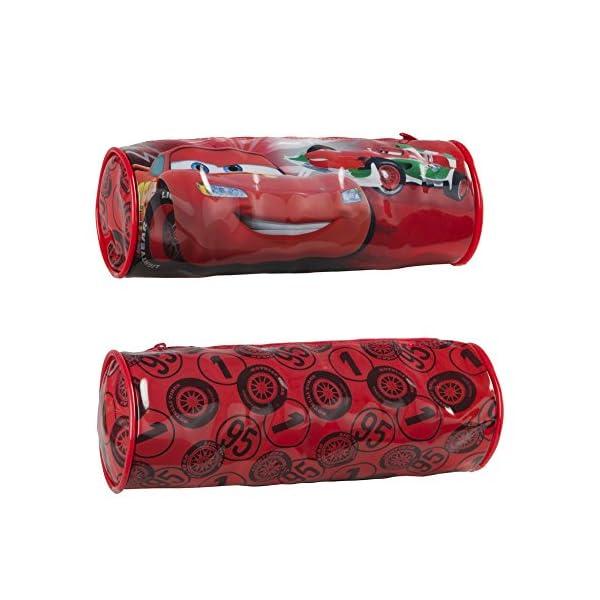Disney – Cars Flash Mc Queen – Estuche Portatodo Escolar – 21 x 7 cm