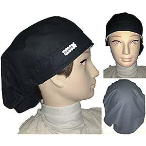 Surgical Cap, Haube, Medizinische Kappen. SCHWARZ UNI. Für langes Haar. Operationssaal, Krankenpflege, ZAHNÄRZTE...
