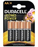 #8: Duracell Alkaline AA Battery - 8 Pieces