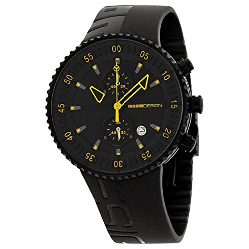 Uhr MOMO DESIGN HERREN md2198bk-31Quarz (Batterie) Stahl Quandrante schwarz Armband Gummiarmband '