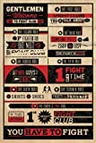 Grupo Erik PP32912 Poster Fight Club Rules Infographic, carta, Multicolore,  91 x 61,5 x 0,1 cm