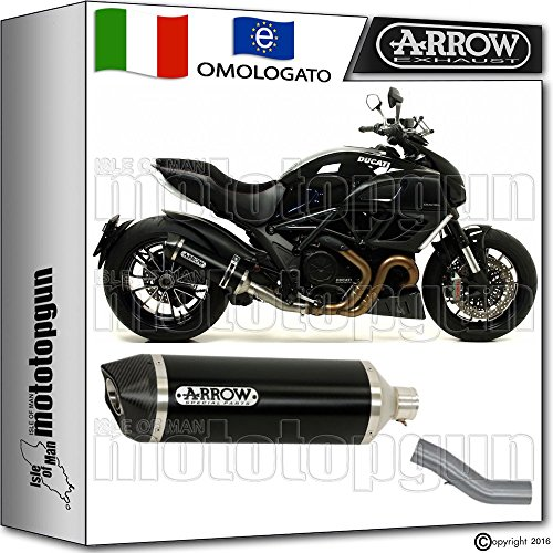 ducati diavel auspuff Arrow Auspuff Kit Kat race-tech Aluminium Dark Carby Ducati Diavel 20121271768AKN + 71451KZ