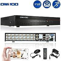 OWSOO 16CH DVR Full CIF Grabador de Video H.264 P2P Network CCTV Control Móvil Android/iOS Detección de Movimiento Alarma Email para Cámara Vigilancia