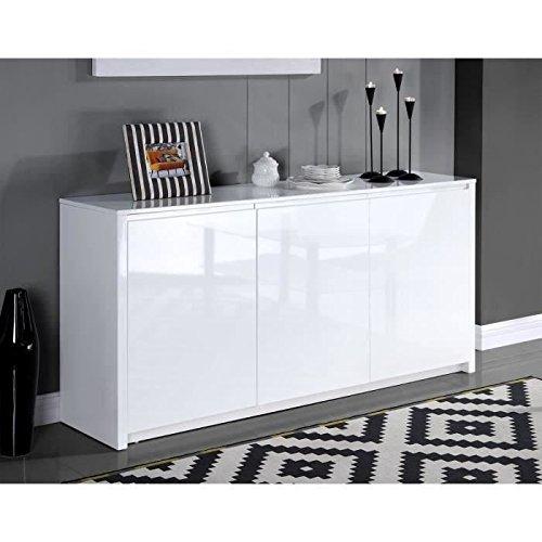 Générique Polaris Buffet 160cm laqué Blanc Brillant