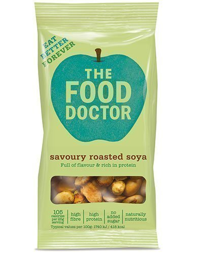 The Food Doctor Savoury Roasted Soya Bean 40g (Pack of 10) Test