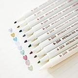 STA 10 Colores Lote Marcador Metálico DIY Artesanías de Scrapbooking Cepillo Suave Pluma Marcador de Arte de La Pluma 1-2mm Para Material Escolar Papelería (10 Rotuladores)