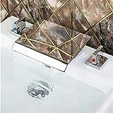 Wasserhahn Becken Wasserhahn Warm Und Kaltwasserhahnwasserfall Roman Tub Filler Mit Handbrause Chrom Badezimmer Badewanne Wasserhahn